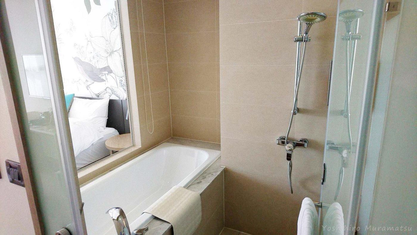 ホテル(Just Sleep Kaohsiung Station)のお風呂の雰囲気