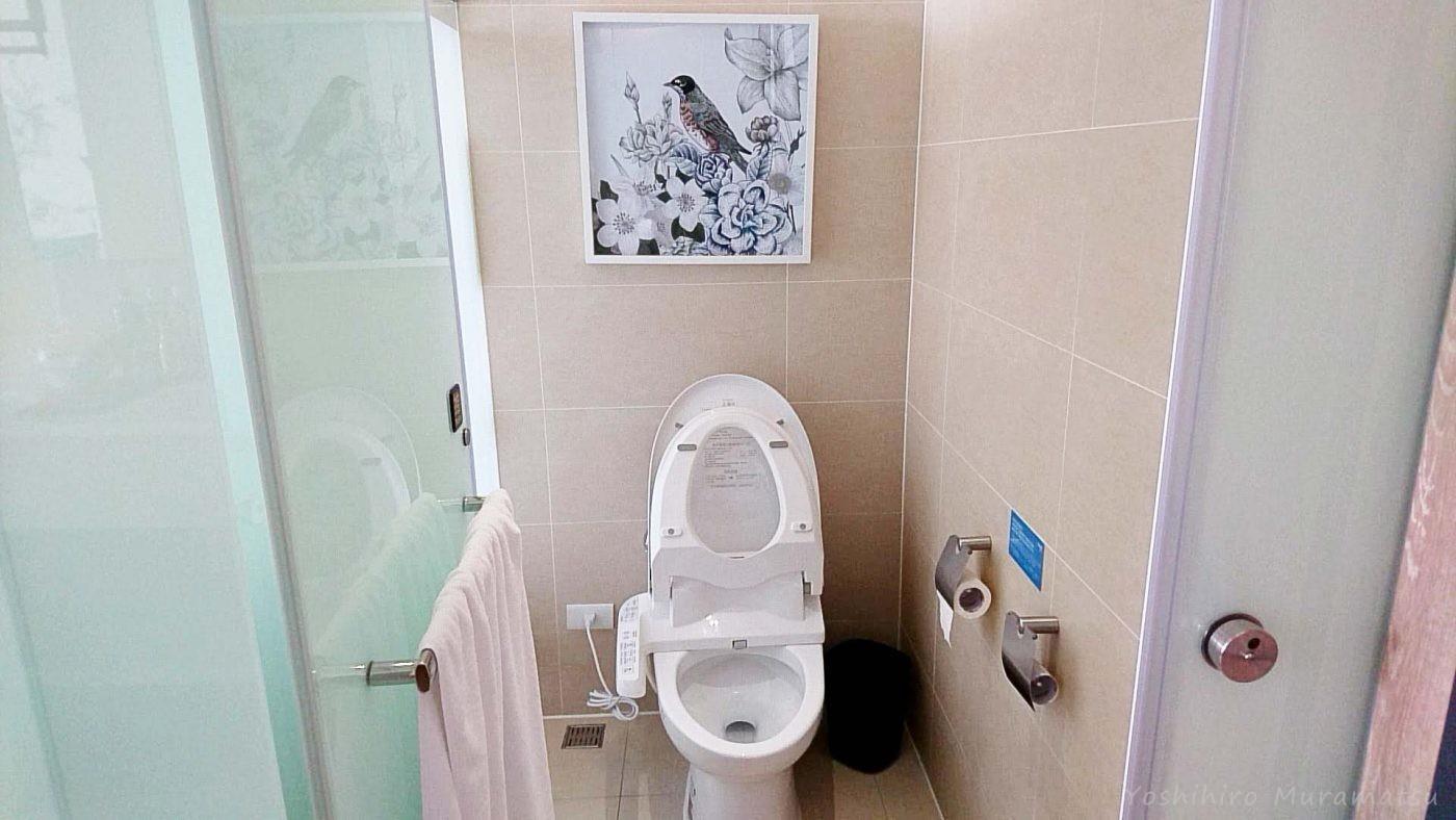 ホテル(Just Sleep Kaohsiung Station)のトイレの雰囲気