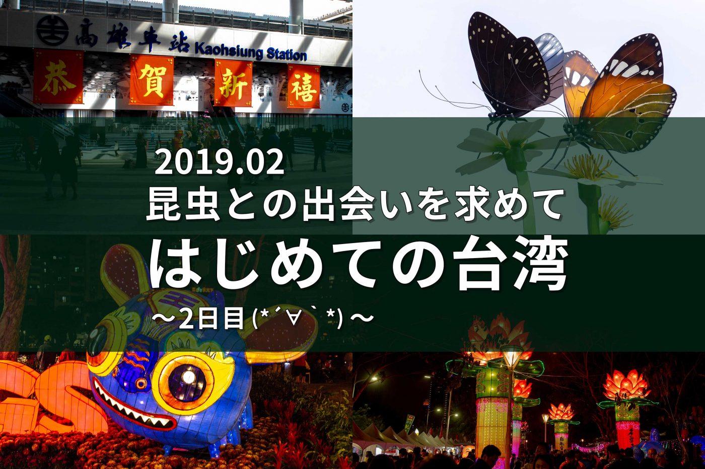 昆虫との出会いを求めて、はじめての台湾旅行(2日目)タイトル画像