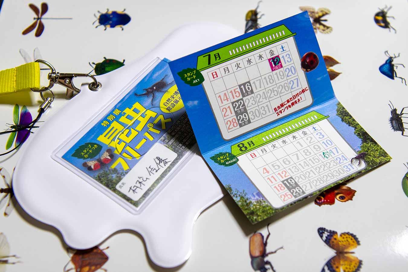 特別展昆虫のスタンプカード
